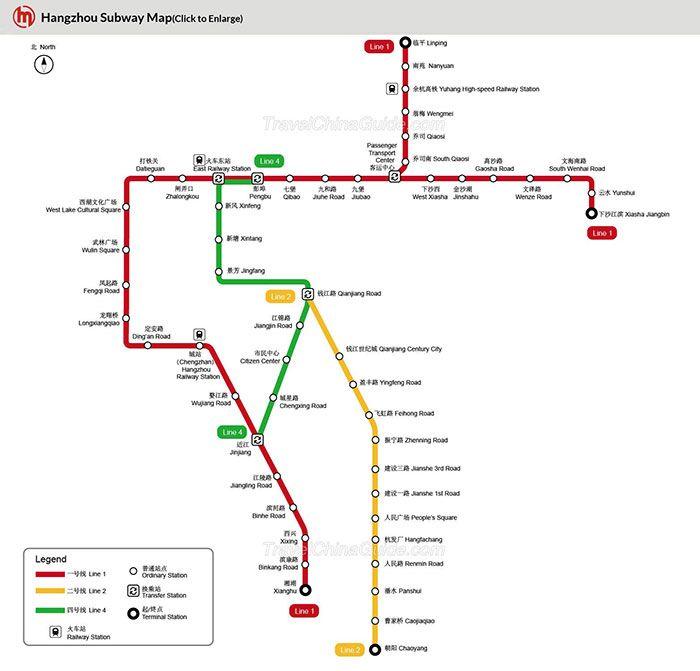 Hangzhou subway map Hangzhou Zhejiang Maggies 22 Chinese