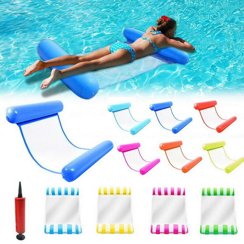 UK Inflatable Floating Water Hammock Float Pool Lounge Bed Swimming Chair