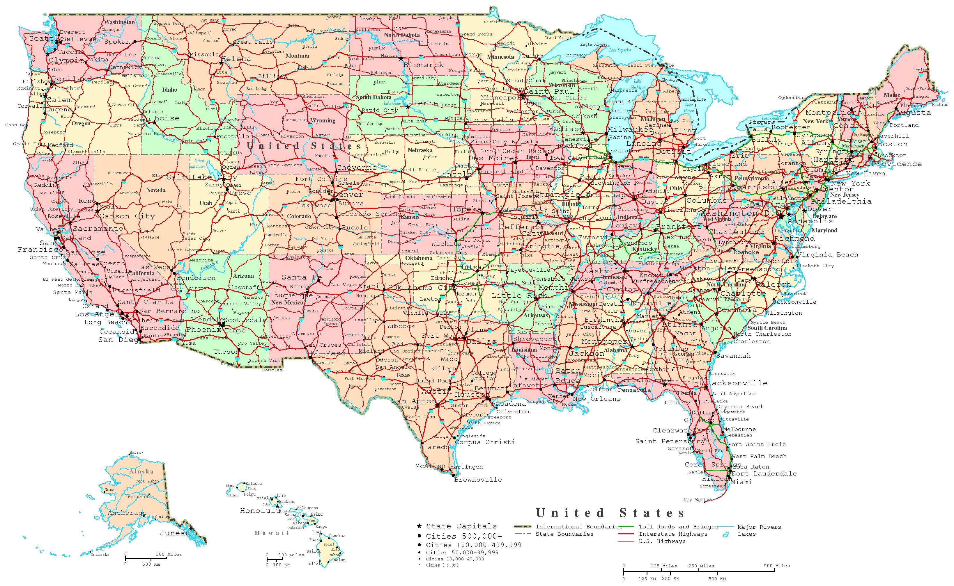 The Map Covers The Following Area States United States