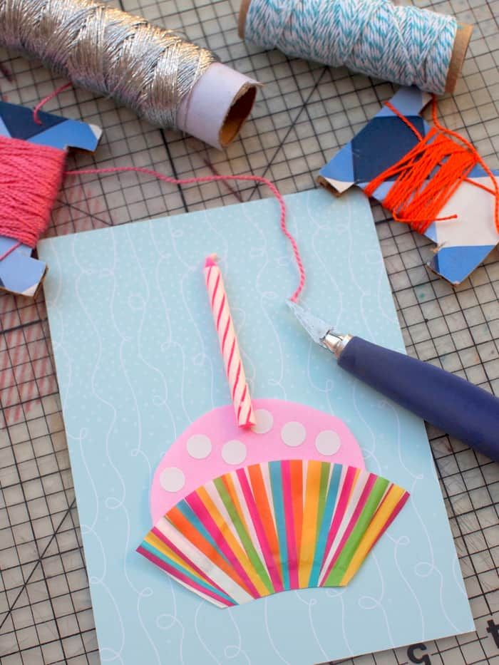 Instead Of Giving Out Store Bought Cards Try Mixing Things Up With A Handmade One Isnt This Cupcake DIY Birthday Card Super Cute And Fun