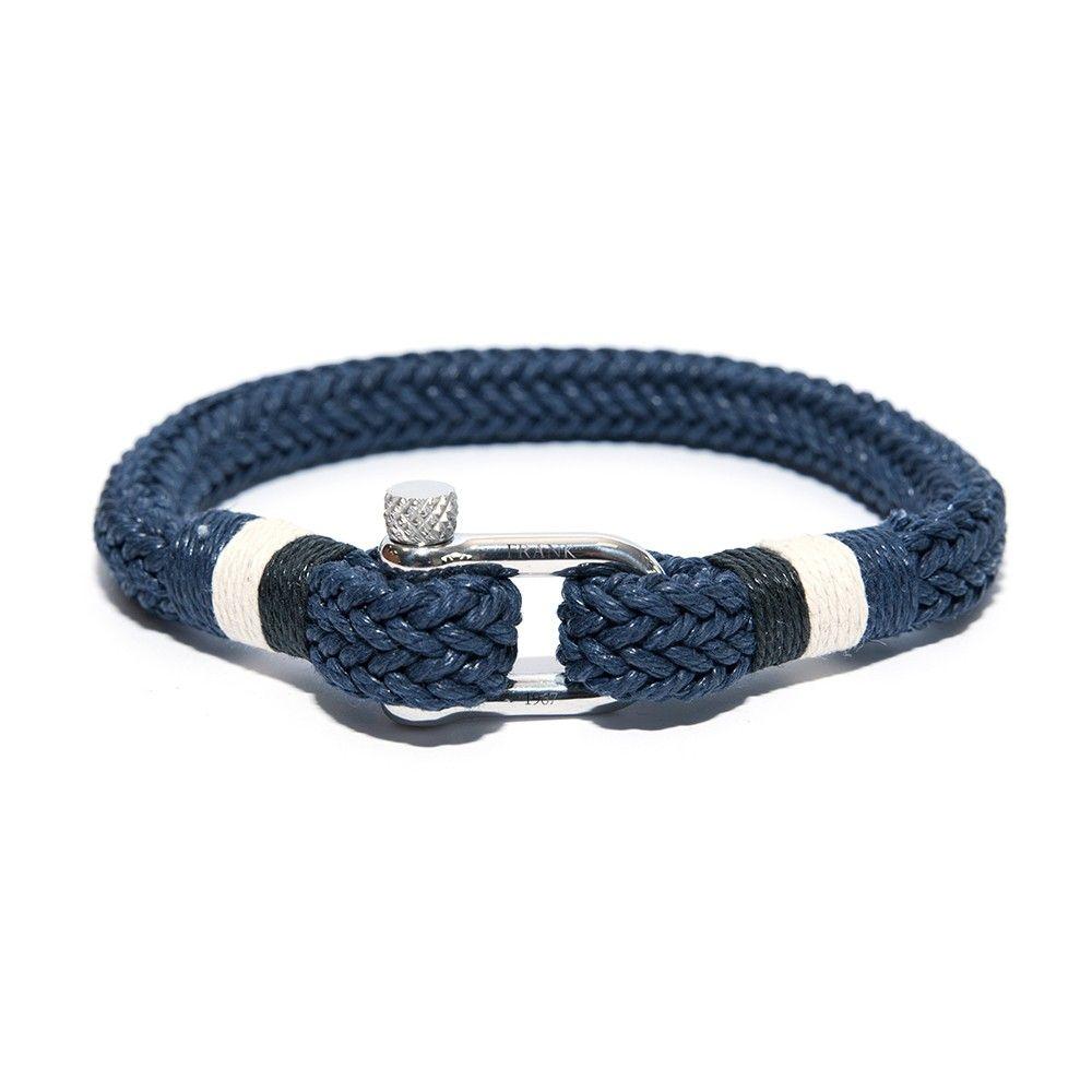 Frank 1967 7FB 0166 Heren armband leer met stalen