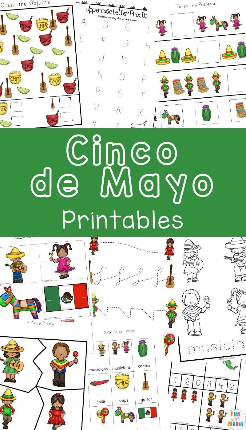 Cinco De Mayo Printable Pack Cinco De Mayo Activities Kindergarten Worksheets Cinco De Mayo [ 1400 x 800 Pixel ]