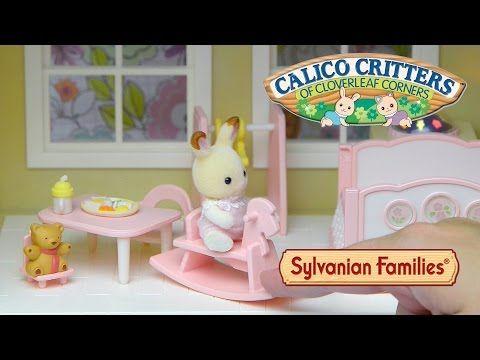 Sylvanian Families Calico Critters Nightlight Nursery Set Unboxing Set Up Cloverleaf Manor Toys Youtube Nursery Night Light Nursery Set Toys