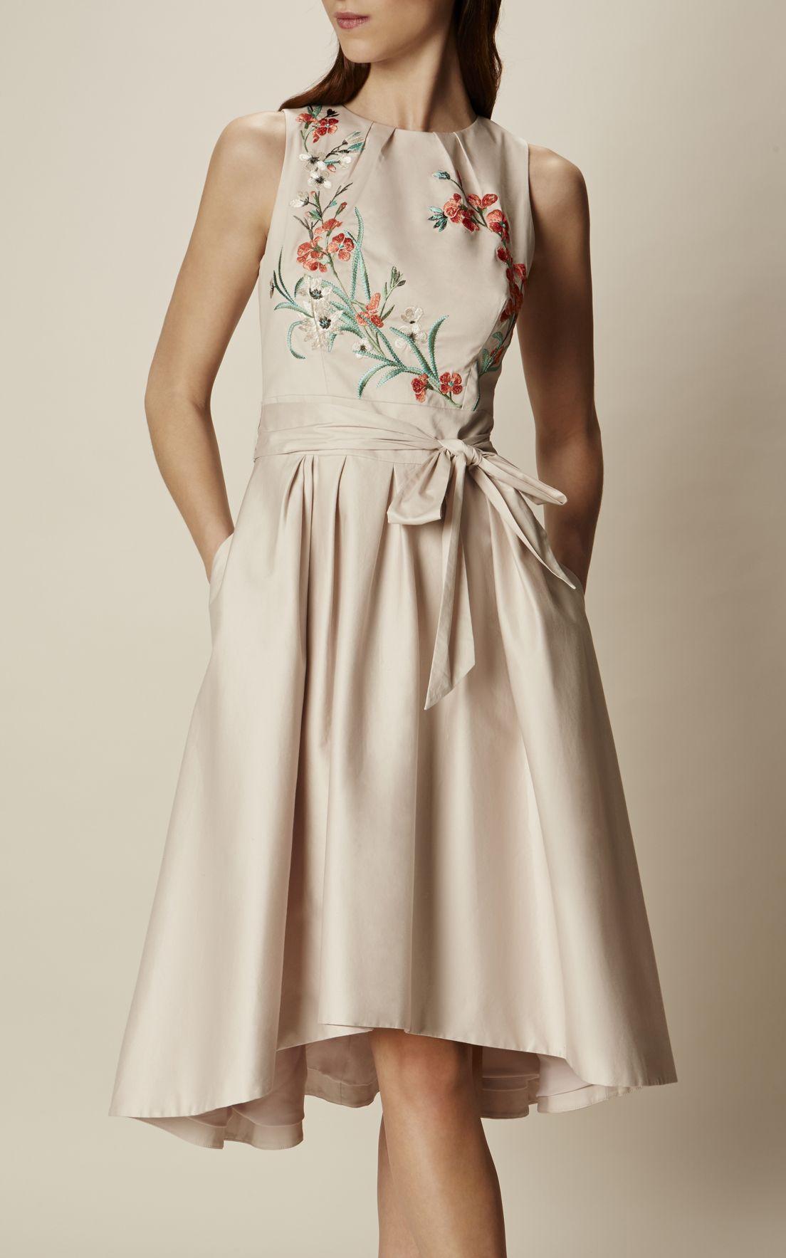 Karen Millen, Besticktes Kleid mit weitem Rock Blassrosa (mit