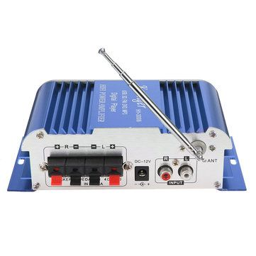 Kentiger HY3006 2 Channel Hi-Fi Audio Stereo Mini Amplifier Car Home MP3 USB FM SD w/ Remote 12V Sale - Banggood.com
