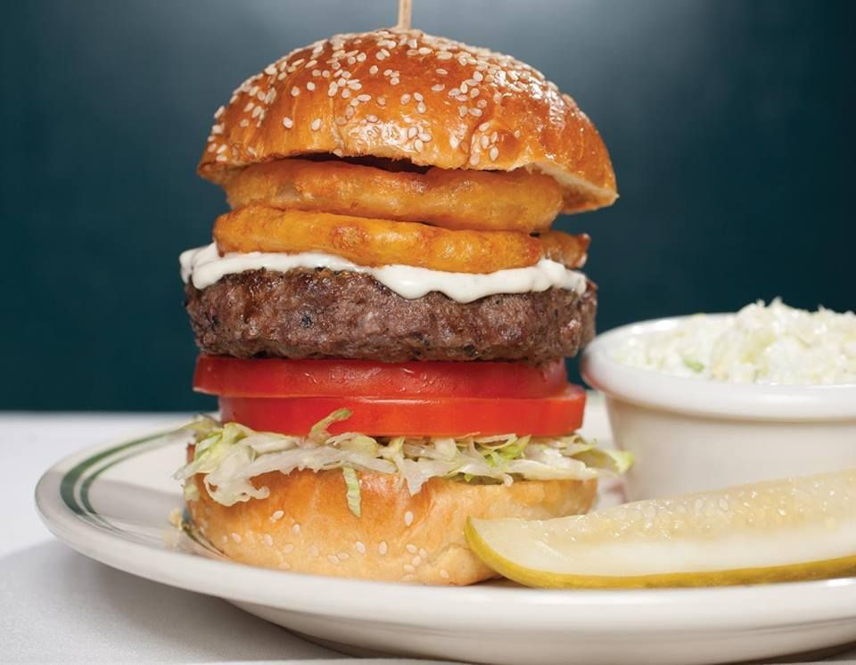 Bleu Royale Burger from Don & Charlie's  #LettuceEntertainYou #LettuceEats #BleuCheeseBurger #Burger #DonandCharlies #Arizona #BurgerMonth #Delicious #Stacked