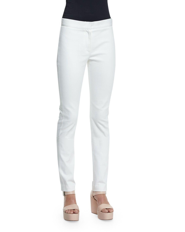 Hanne Mid-Rise Slim-Leg Jeans, White, Size: 40 IT (4 US) - Derek Lam