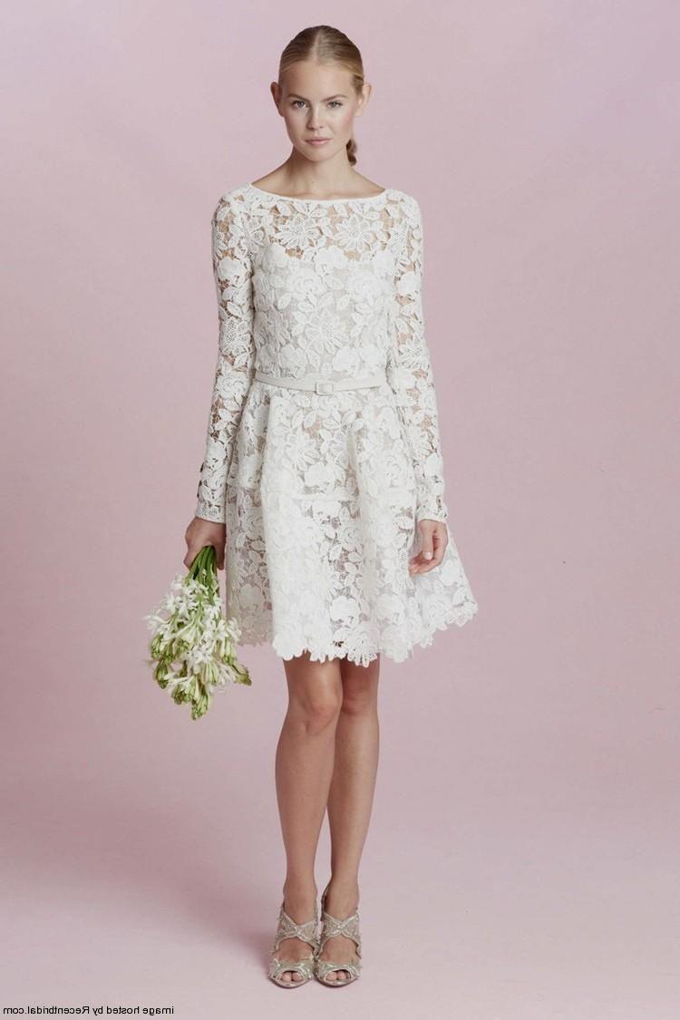 long sleeve lace short wedding dress cute dresses for a