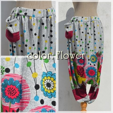 Hot sarouel pants-color Flower-  #naturaleeza #winter #clothes #hippie #fashion