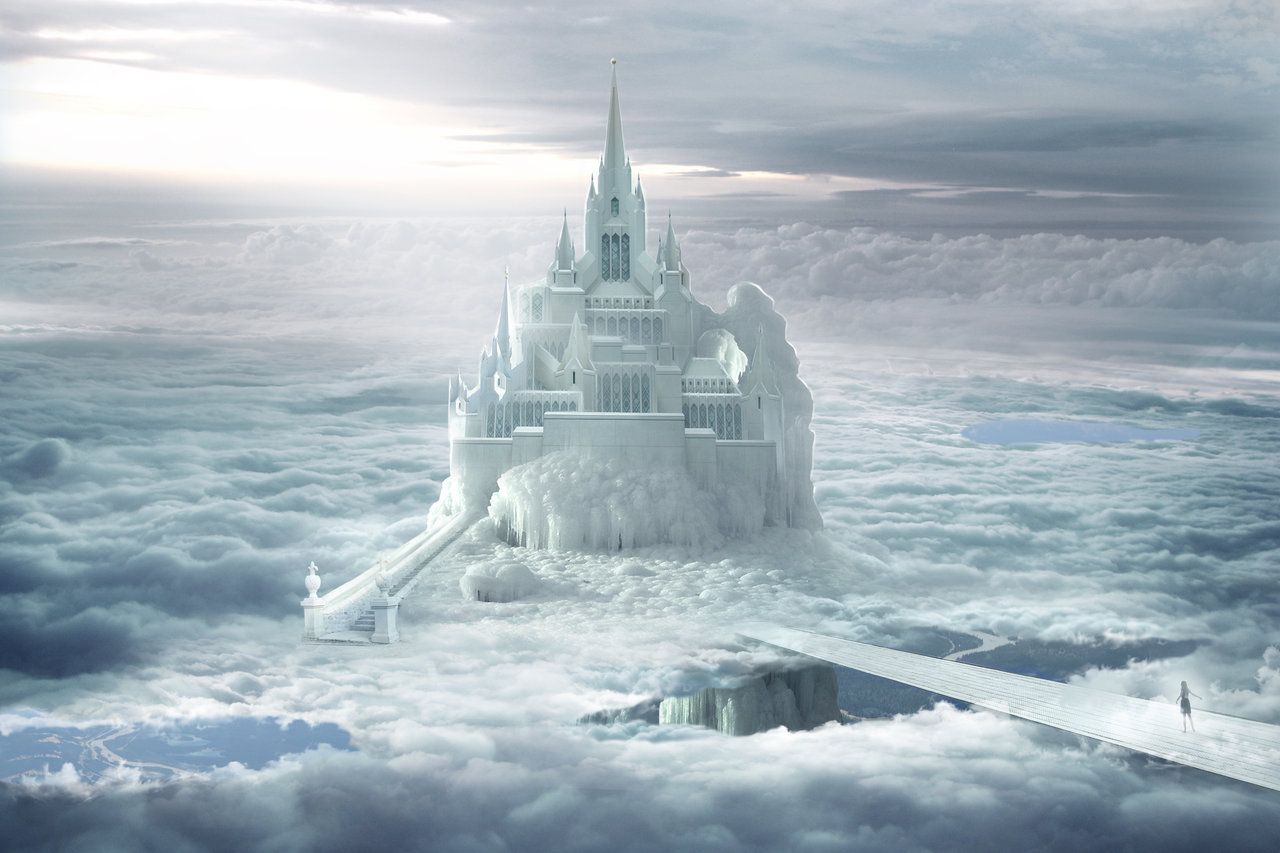 Castle in the clouds by ElenaDudina on DeviantArt | Fantasy landscape, Castle in the sky, Fantasy castle