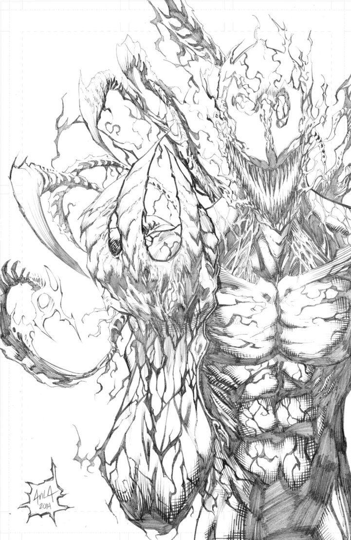 Venom Coloring Pages Lego Venom Spider Marvel Heroes: Carnage Pencils By Hanzozuken