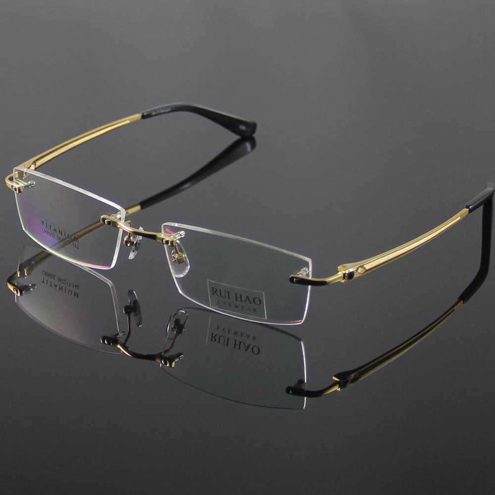 02db347b70 Unisex Eyeglasses Frame Fashion Eyeglasses Men Rimless Titanium Glasses  Women Optical Spectacles Eyewear Frames oculos of