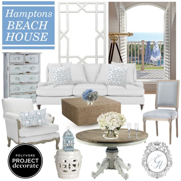 """Hamptons Beach House"" By Theenchantedhome On Polyvore"
