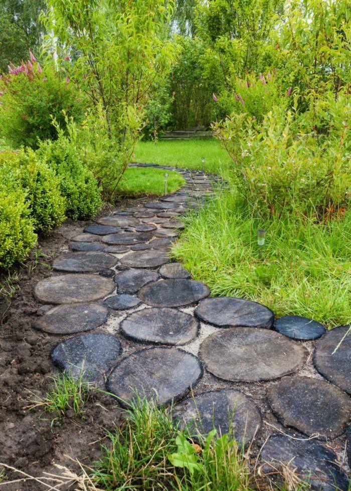111 Gartenwege gestalten Beispiele - 7 tolle Materialien für den - garten selbst gestalten tipps