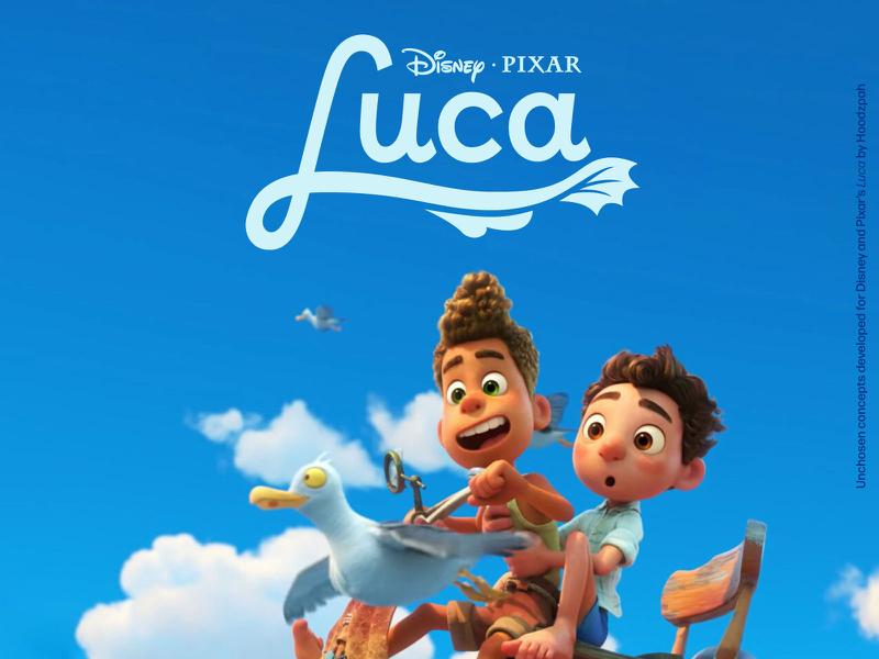 Unchosen Disney And Pixar S Luca Movie Title Treatments In 2021 Lucas Movie Disney Pixar