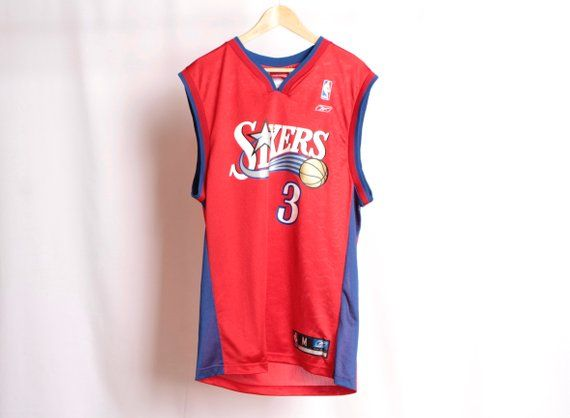 pick up e5084 b605b vintage ALLEN IVERSON Philadelphia 76ers size medium late ...