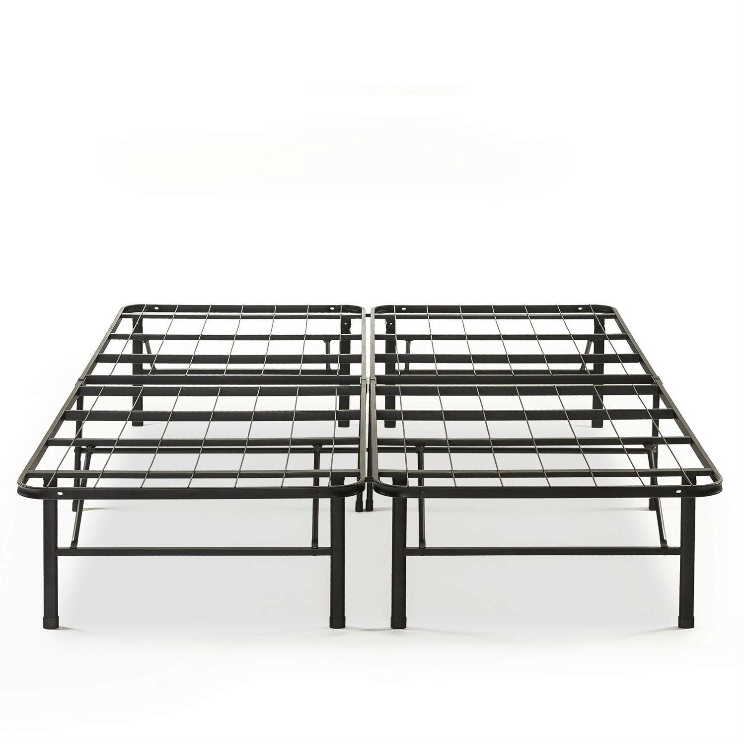 Queen size Folding Sturdy Metal Platform Bed Frame with