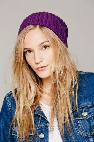 $28, Free People Capsule Slouchy Beanie. Sold by Free People. Click for more info: https://lookastic.com/women/shop_items/343756/redirect