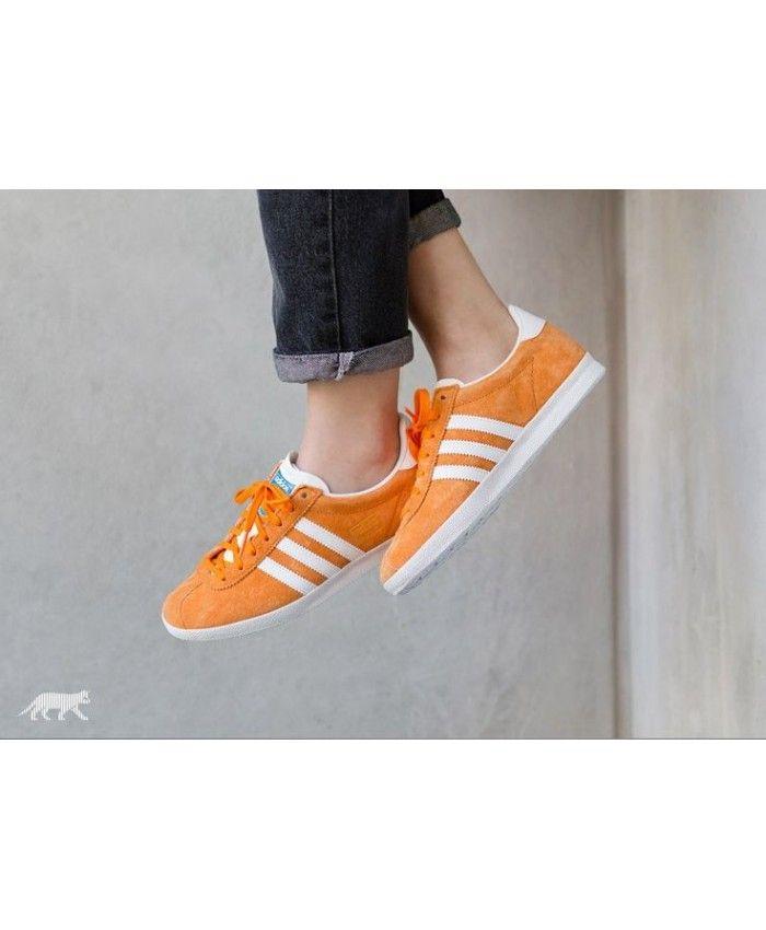 Adidas Gazelle Womens Trainers In Orange White  f56af2b0e671