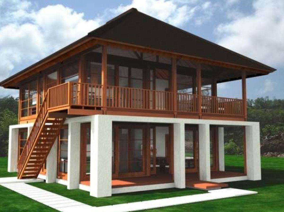 Rumah Kayu Rumah Panggung Knock Down Cottage Dan Gazebo Pembuatan Rumah Kayu 1 Jpg 1200 896 Rumah Kayu Desain Rumah Denah Rumah Pedesaan