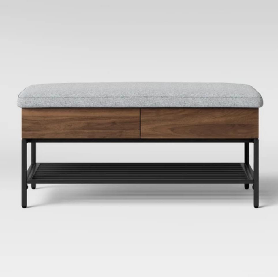 11 Decorative Benches Under 200 That Will Instantly Solve Your Storage Problem Modern Storage Bench Bench With Storage Storage Bench