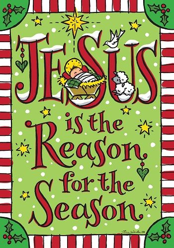 Jesus Season Flag Christmas Flags Two Sided Flags Holiday Flags Christmas Flag Holiday Flag Christmas Garden Flag