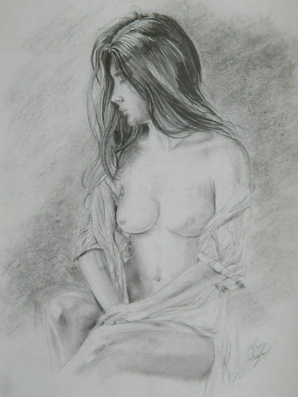 Dibujo De Mujer Desnuda Lápiz Dibujos Mujer Dibujo A Lapiz