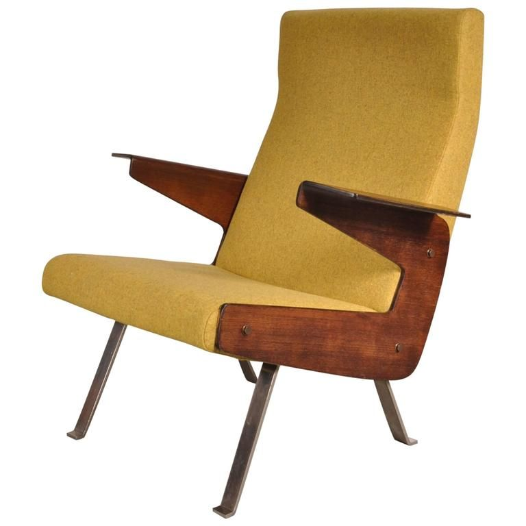 Rare Armchair by Joseph-André Motte for Steiner, France ca.1955