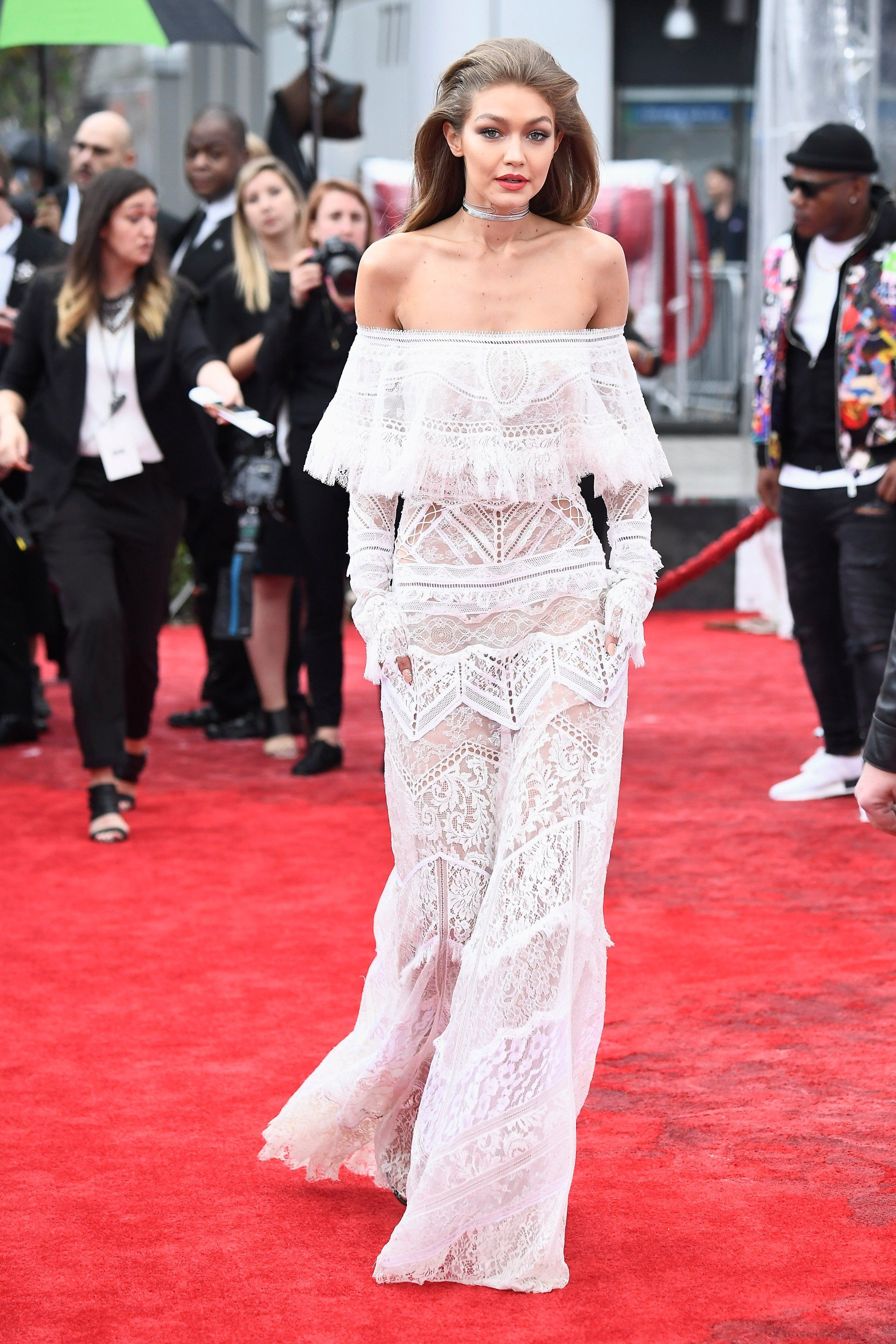Gigi S Roberto Cavalli Red Carpet Dress Gigi Hadid Dresses Nice Dresses Dresses [ 3072 x 2048 Pixel ]