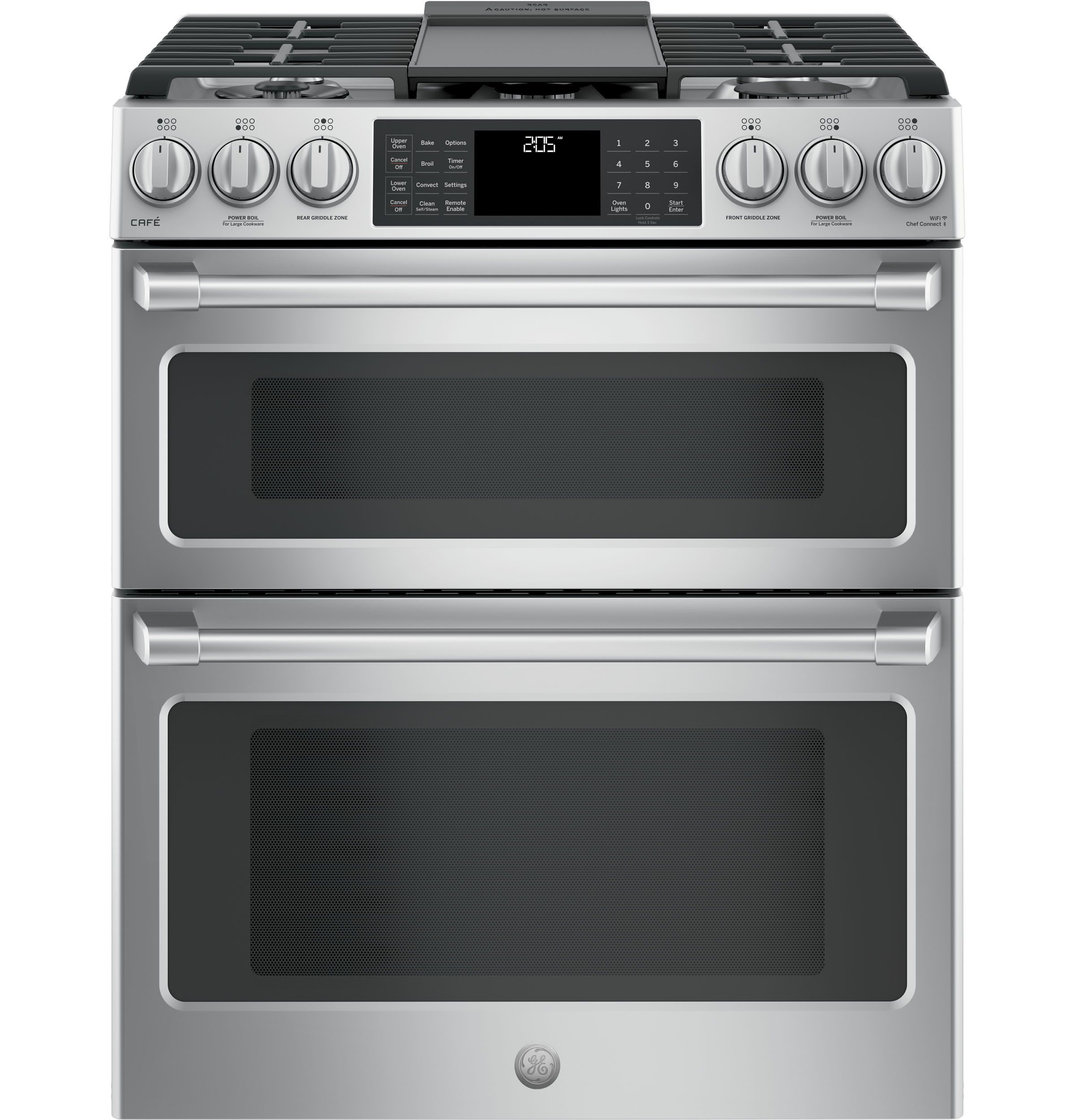 Ge Cafe Series 30 Slide In Front Control Dual Fuel Double Oven