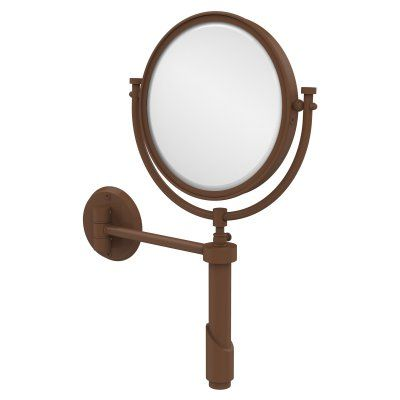 Simple Elegant Allied Brass Tribecca Wall Mounted Makeup Mirror with 4X Magnification TRM 8 4X ABR Top Search - Popular magnifying makeup mirror For Your House