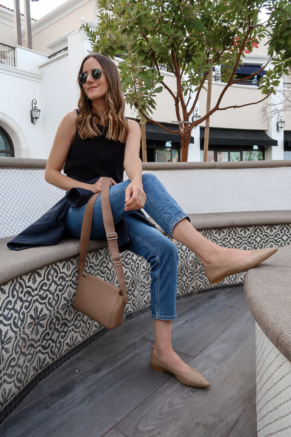 Pointed flats outfit