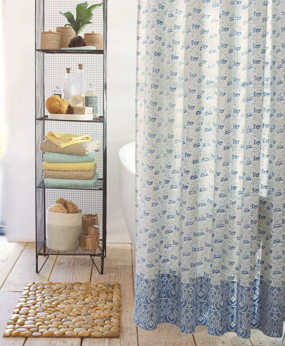 Indian Block Print Shower Curtain