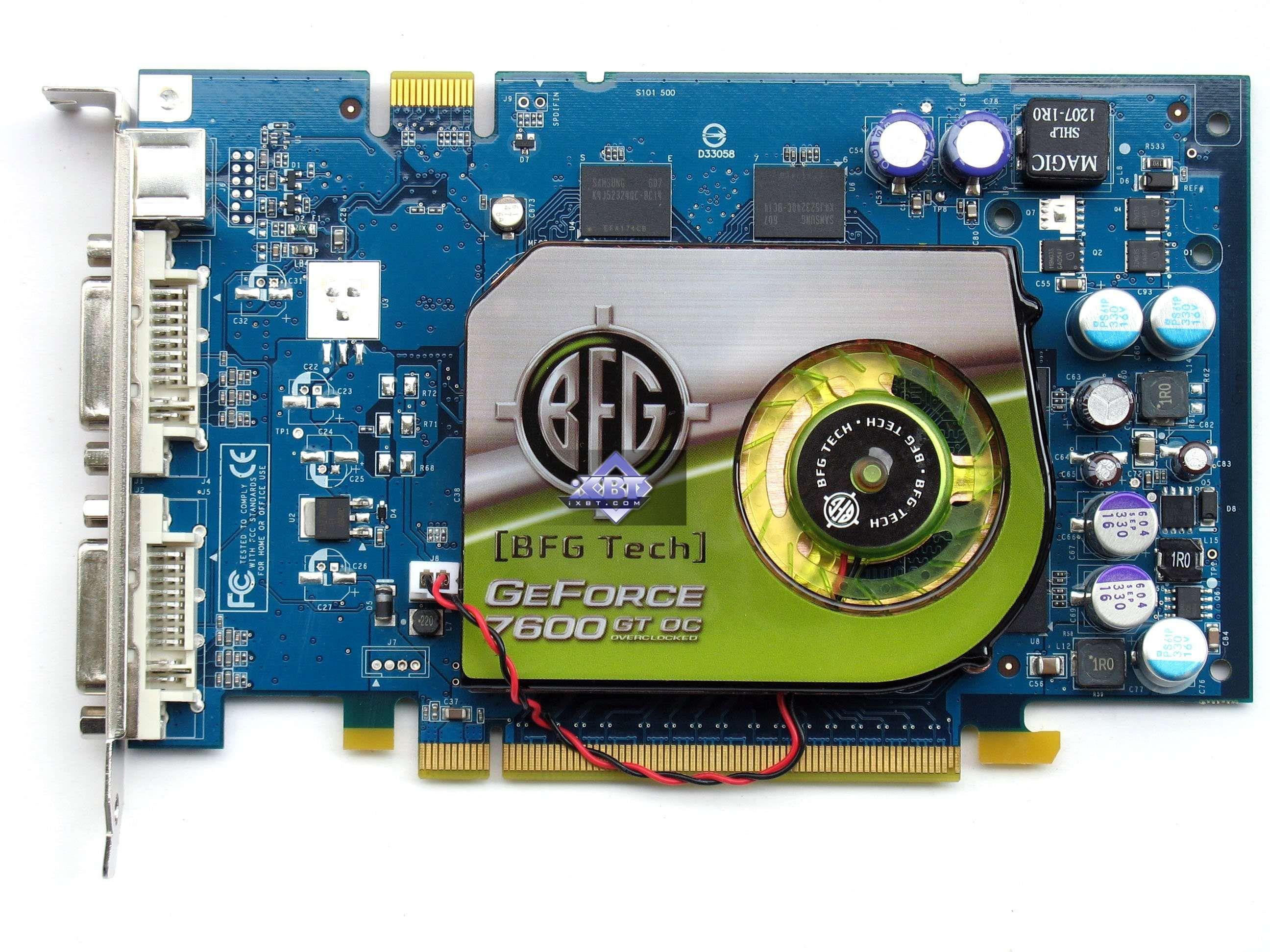 Nvidia geforce 7600 gs 256mb pci-e.