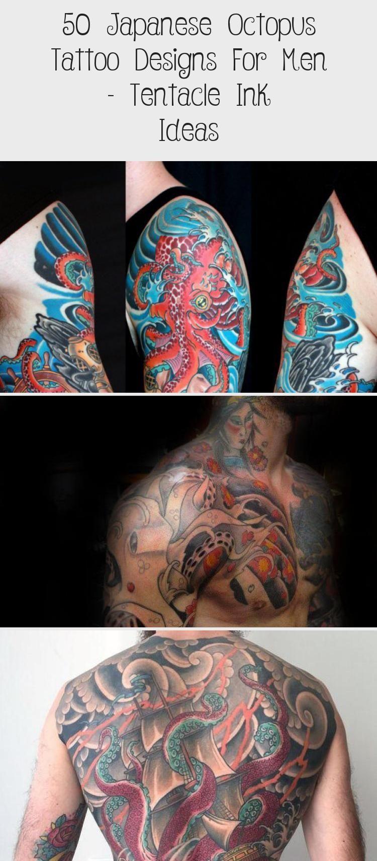 Photo of 50 japanische Octopus Tattoo Designs für Männer – Tentacle Ink Ideas – Beste Tattoos