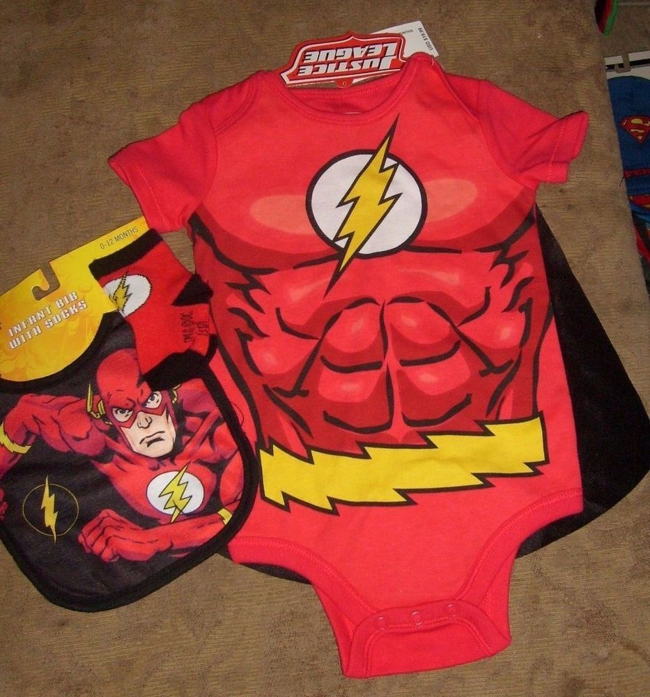 6-12 MONTHS DC FLASH BABY INFANT TODDLER COSTUME ONE-PIECE ...