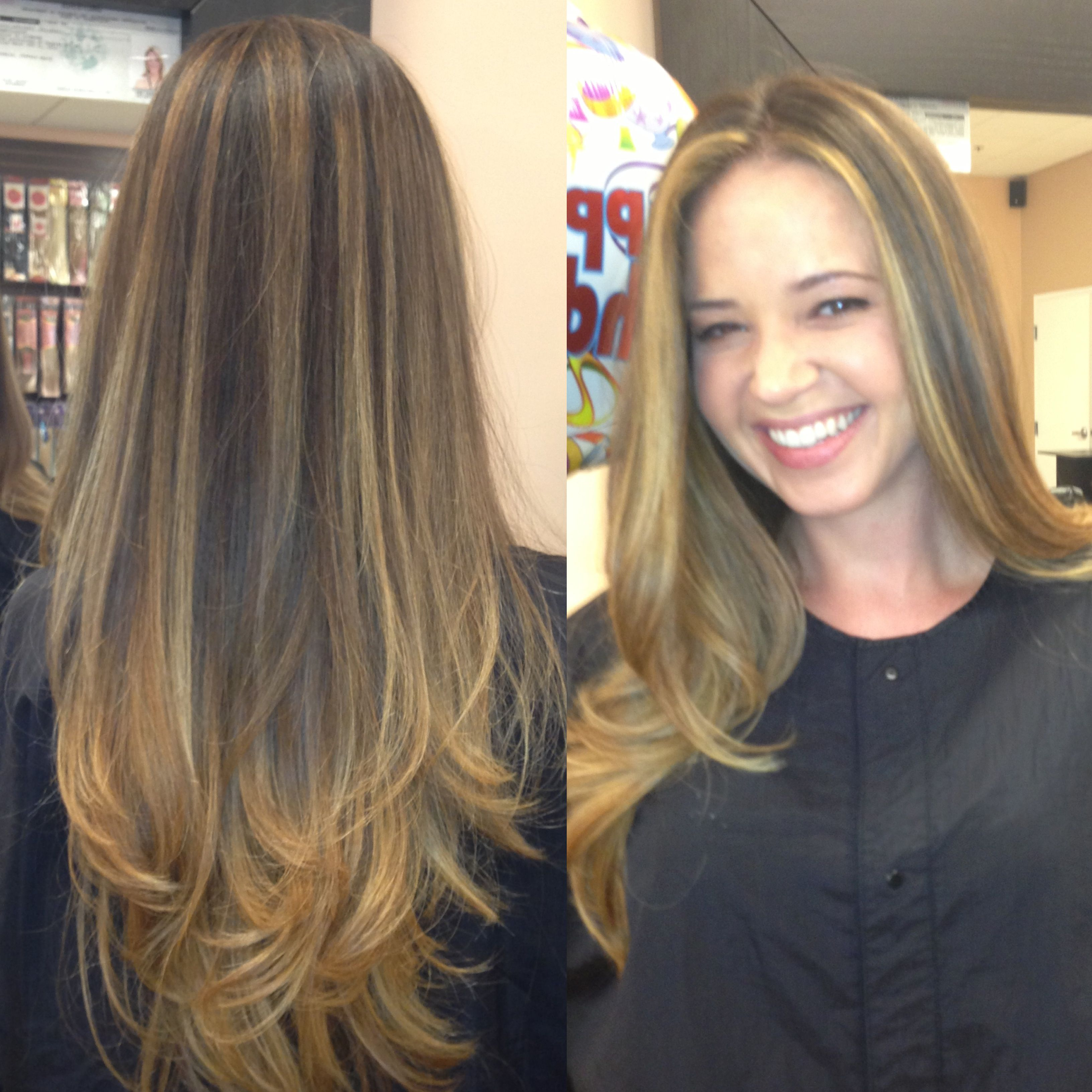Free Hand Painted Highlights Ombre Balayage Blonde