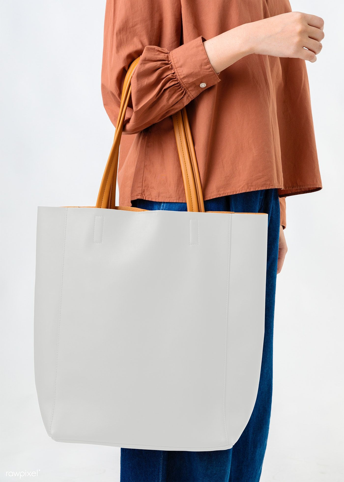 Woman With A Tote Bag Transparent Png Premium Image By Rawpixel Com Mckinsey Tote Bag Bags Woven Tote Bag