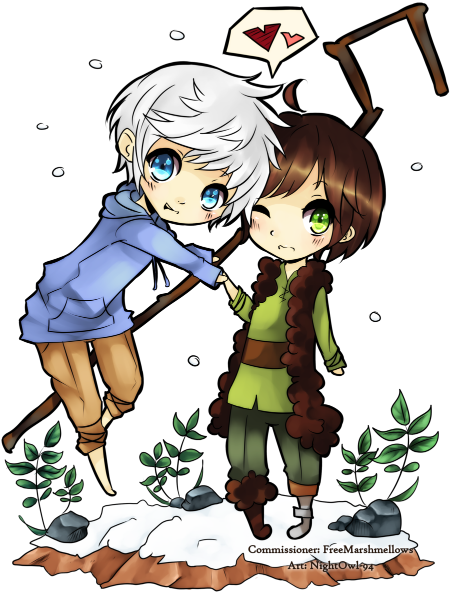jack frost and hiccup   Commission - Jack and Hiccup by ~NightOwl-94 on deviantART