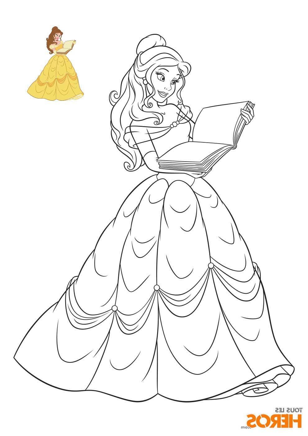Coloriage De Princesse A Imprimer
