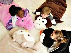 946accc054 Kids Faux  Fur Adventure Animal Sleeping Bags  Camping  Travel ~ Monkey Owl  Penguin  ebaydeals