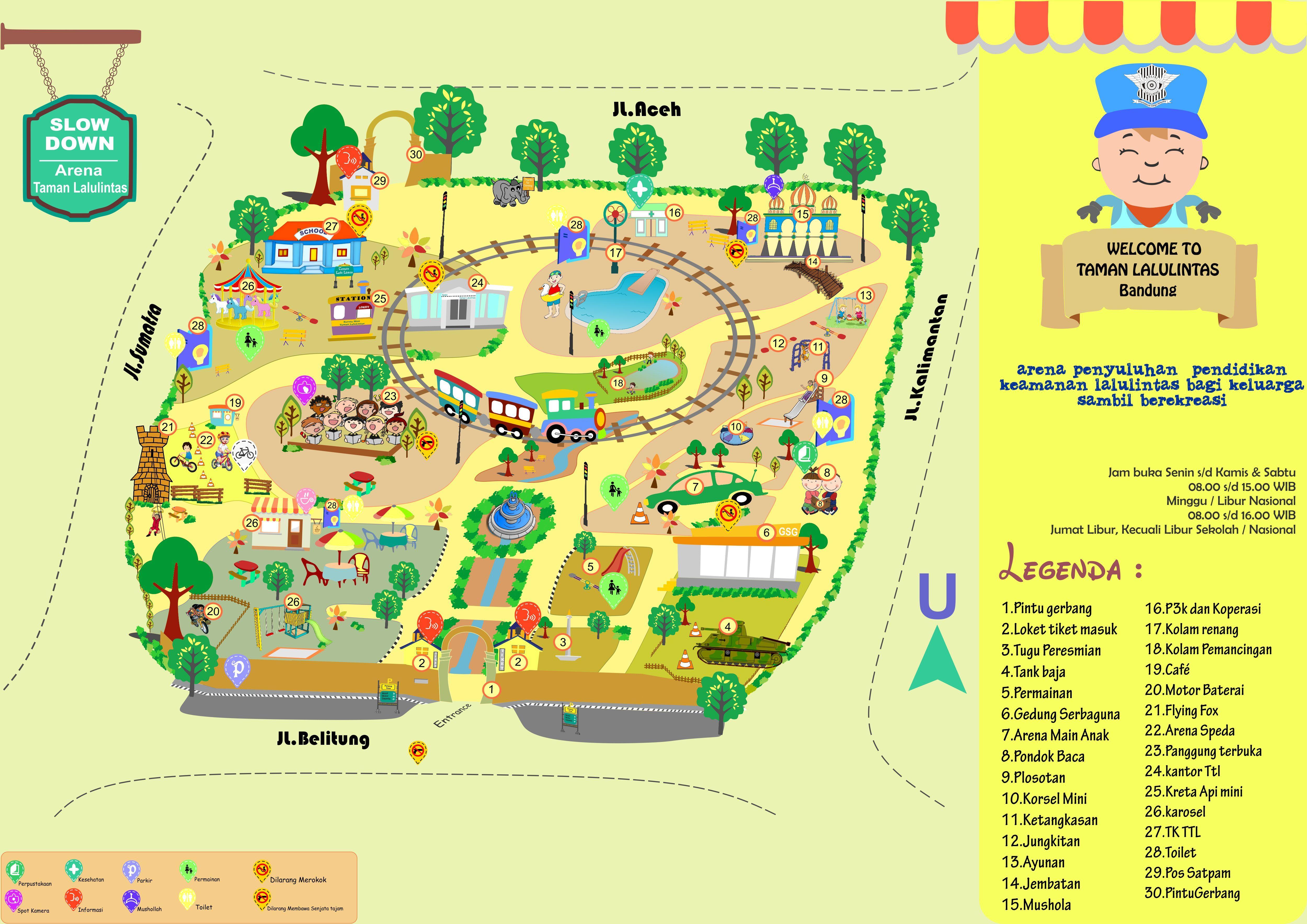 maps for Taman Lalu Lintas Bandung taskproject locker karyaku