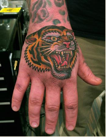 Tiger Head Steve Boltz Smith Street Tattoo Tiger Head Tattoo Traditional Tattoo Tiger Hand Tattoo