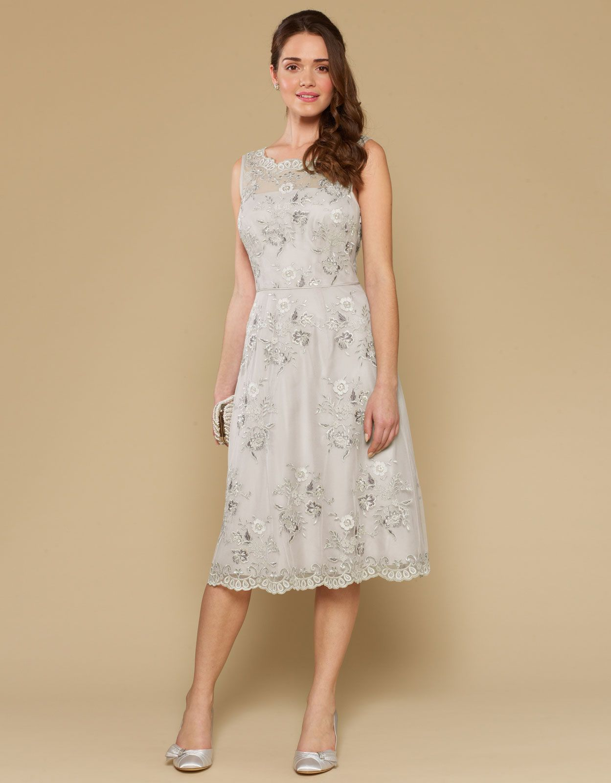 Anisa Dress Silver Monsoon 149 00 Also Availble In Ivory