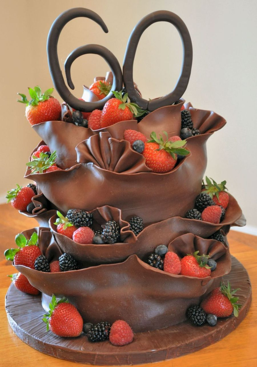 Chocolate And Fruit Birthday Cake on Cake Central | Cake ...