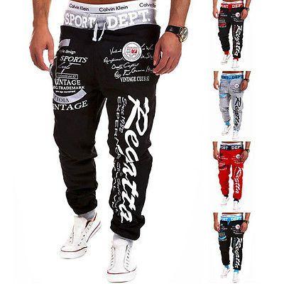 Männer Hiphop Jogginghose Jogger Tanz Sportwear Baggy Harem Hosen Hosen Hosen H