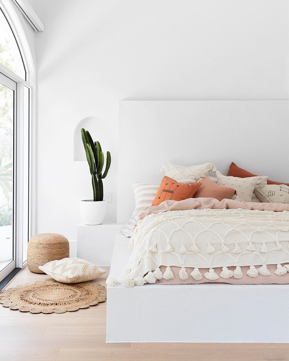 The List: 7 Of The Coolest Boho-Bedrooms I've found on ... on Modern Boho Bed Frame  id=50738