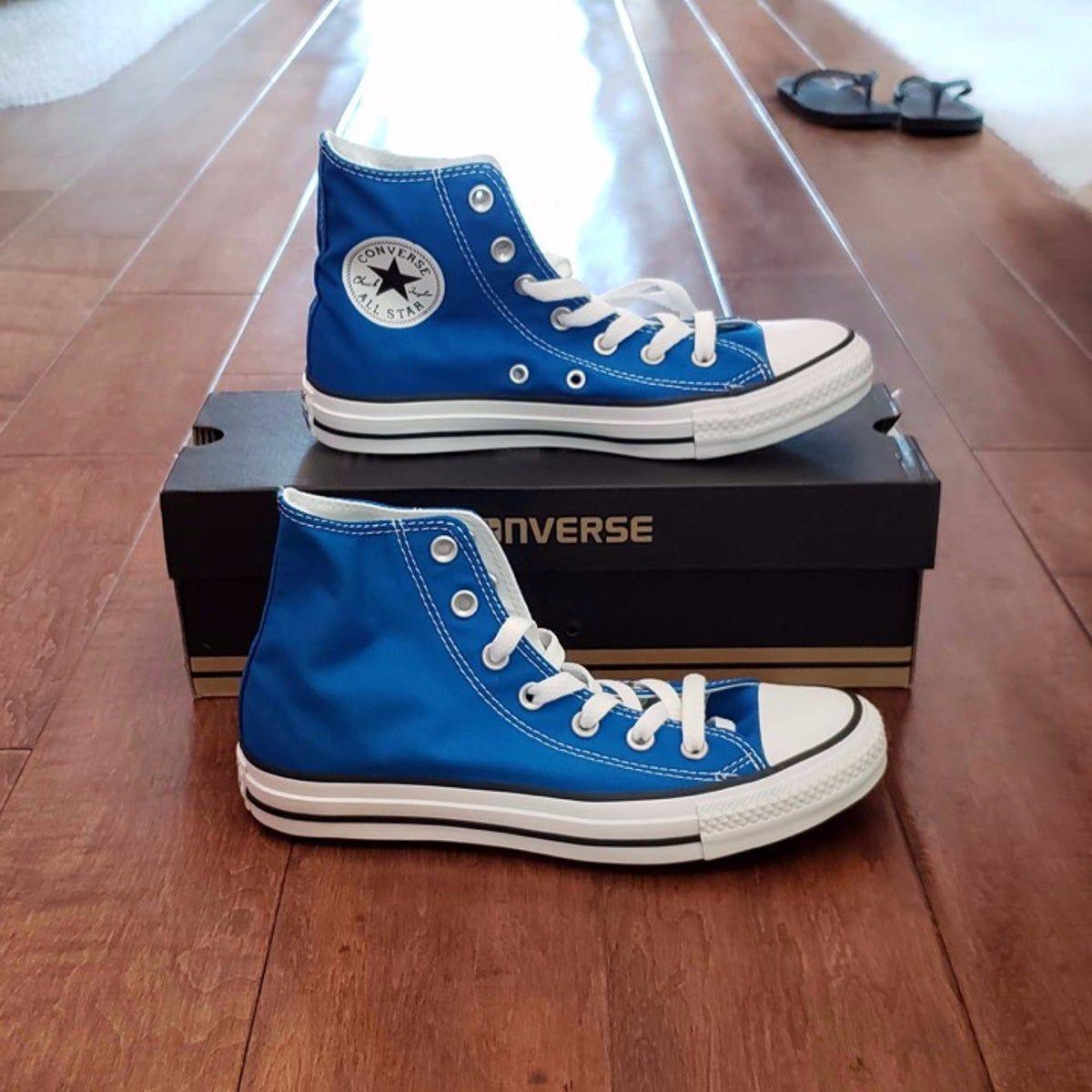 Blue Converse High Tops - Men's 6 in