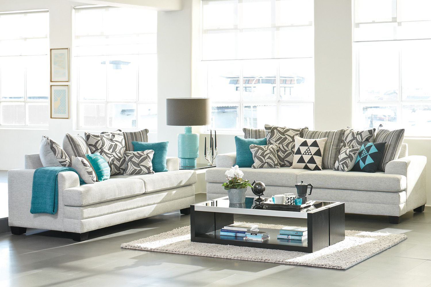 Evolution 2 piece fabric lounge suite by white rose - Harvey norman living room furniture ...