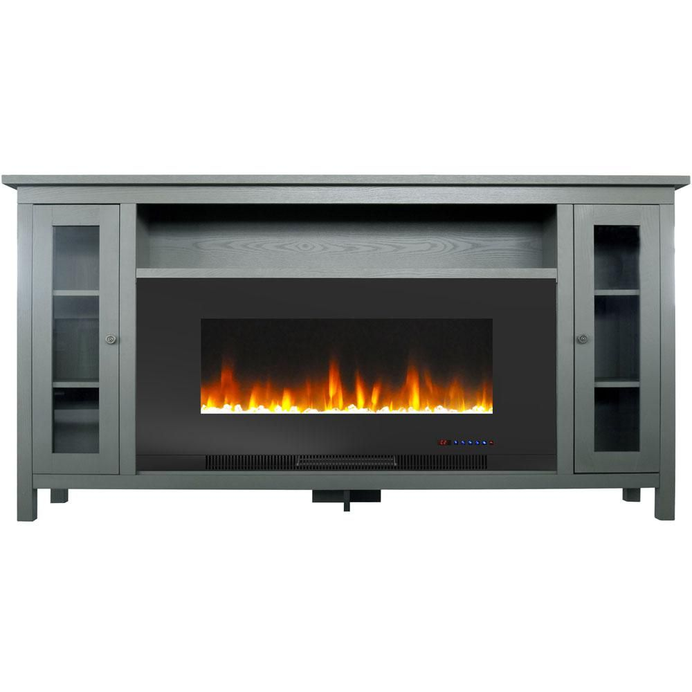Cambridge Somerset 70 In Gray Electric Fireplace Tv Stand In